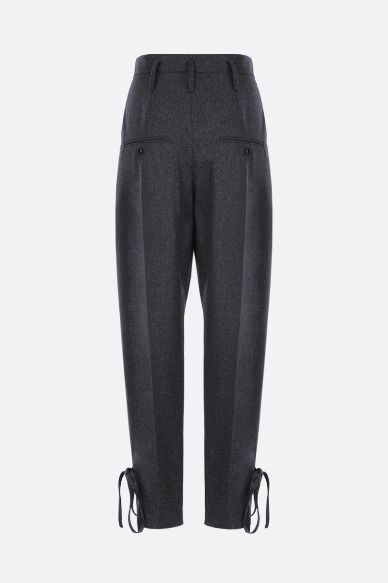 ISABEL MARANT: Racomi wool baggy pants Color Grey_2