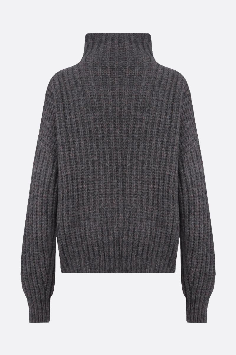 ISABEL MARANT: Iris alpaca mohair blend pullover Color Grey_2