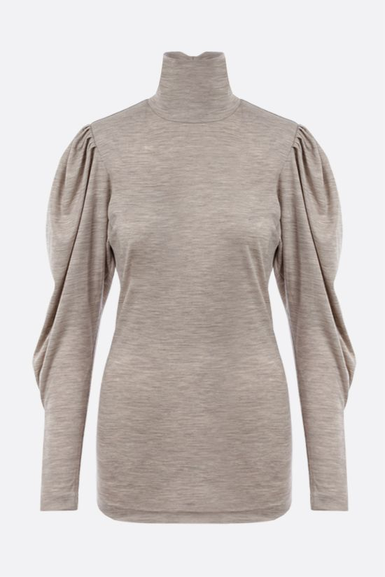 ISABEL MARANT: Gavina wool long-sleeved top Color Grey_1