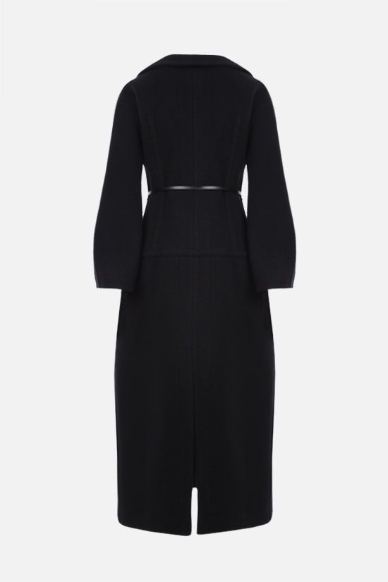JIL SANDER: belt-detailed single-breasted wool coat Color Black_2