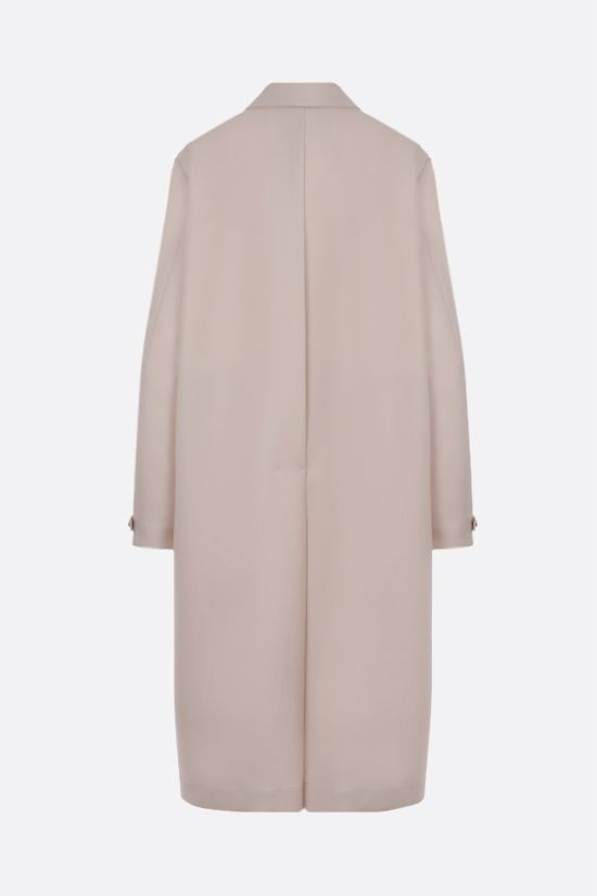 JIL SANDER: single-breasted wool gabardine coat Color Neutral_2