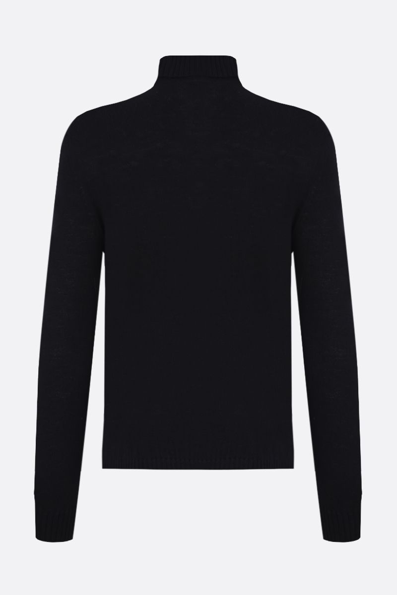 JIL SANDER: classic wool turtleneck Color Black_2