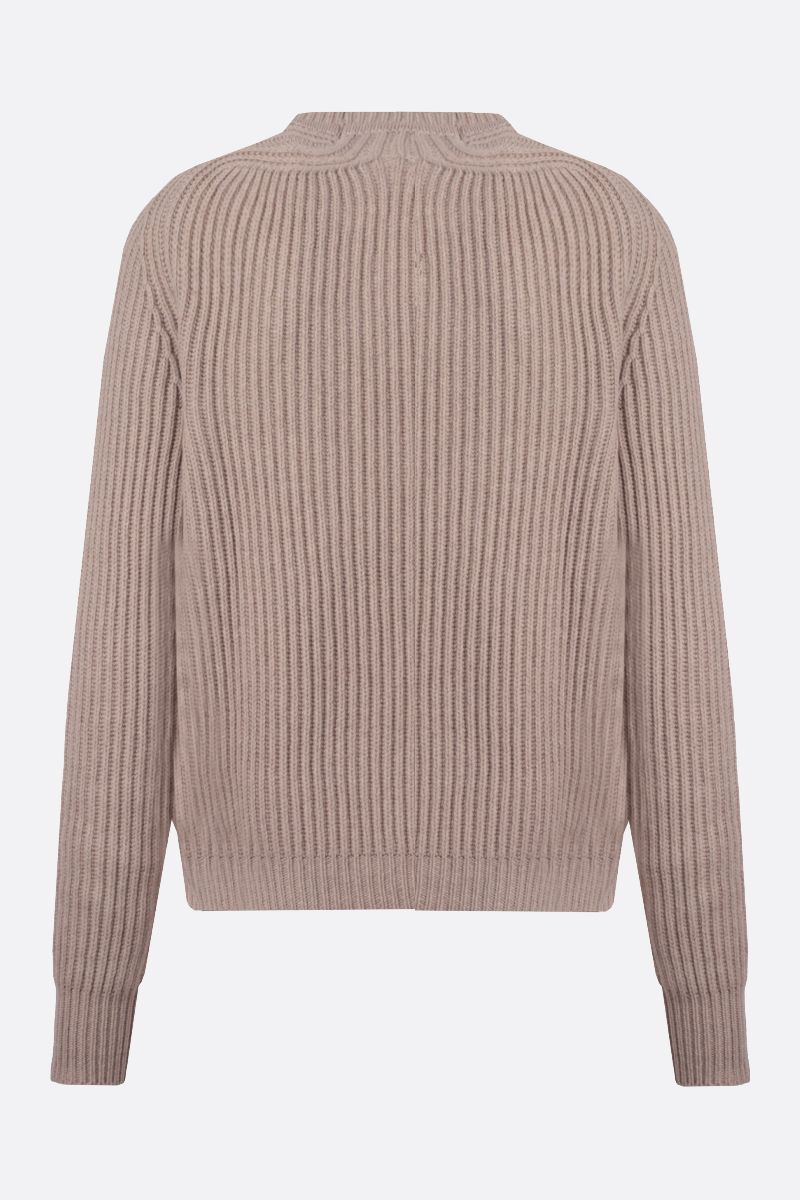 JIL SANDER: ribbed cashmere pullover Color Neutral_2