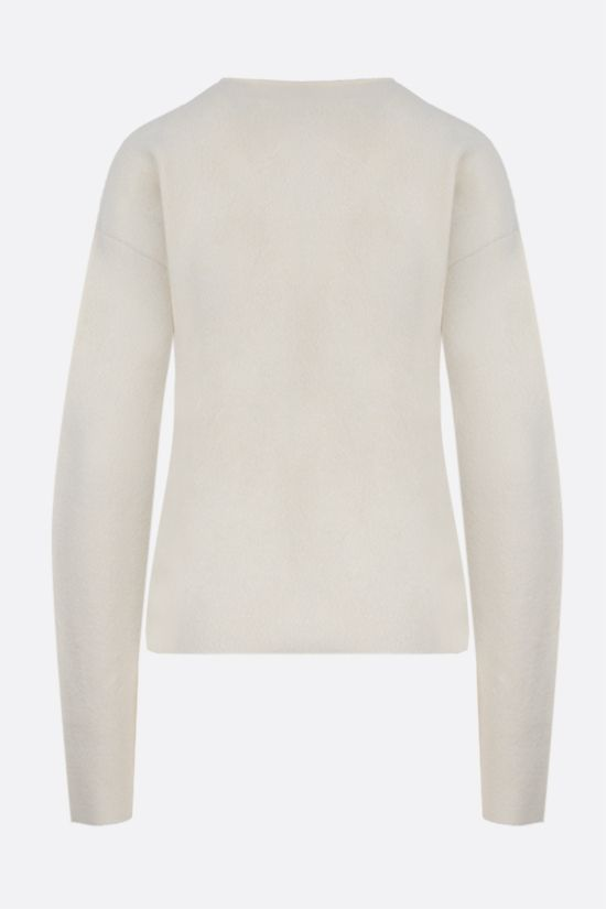 JIL SANDER: wool silk blend pullover Color White_2