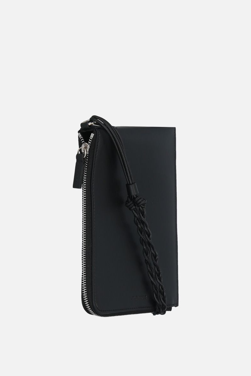 JIL SANDER: Tangle smooth leather passport holder Color Black_2