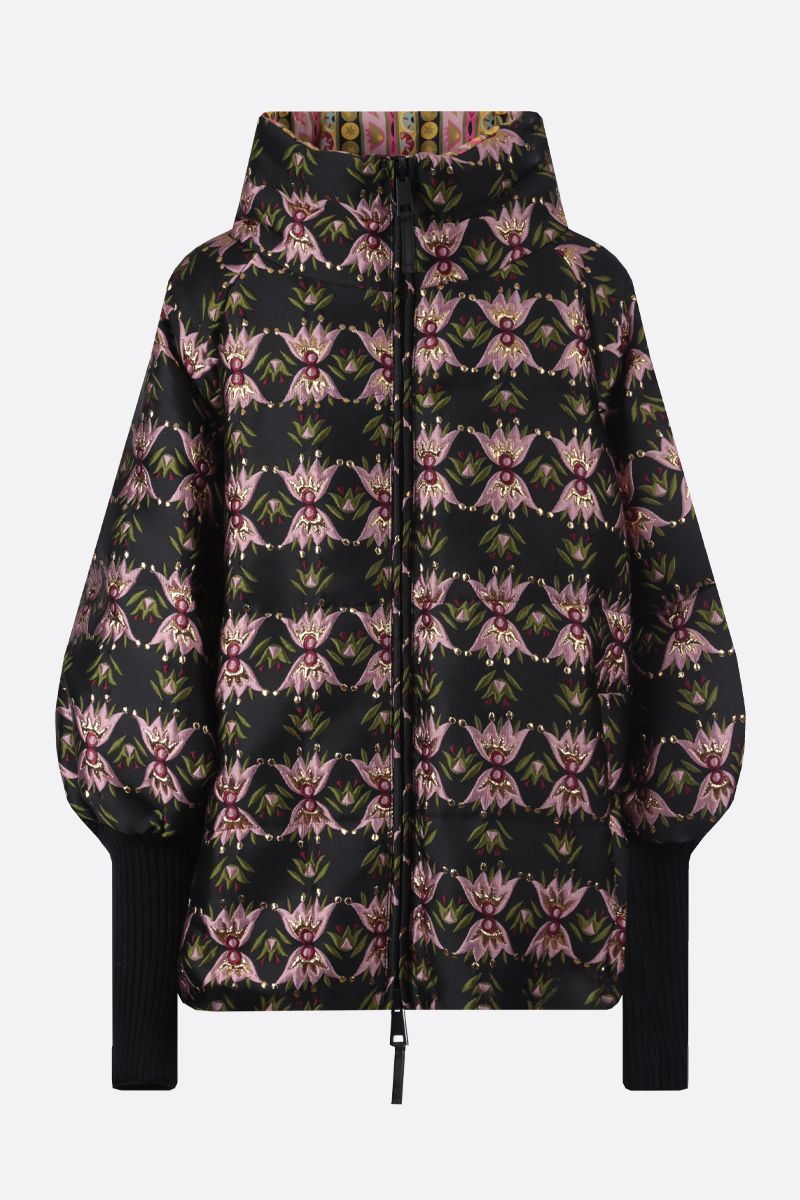 LA DOUBLE J: St. Moritz jacquard and nylon reversible down jacket Color Multicolor_1
