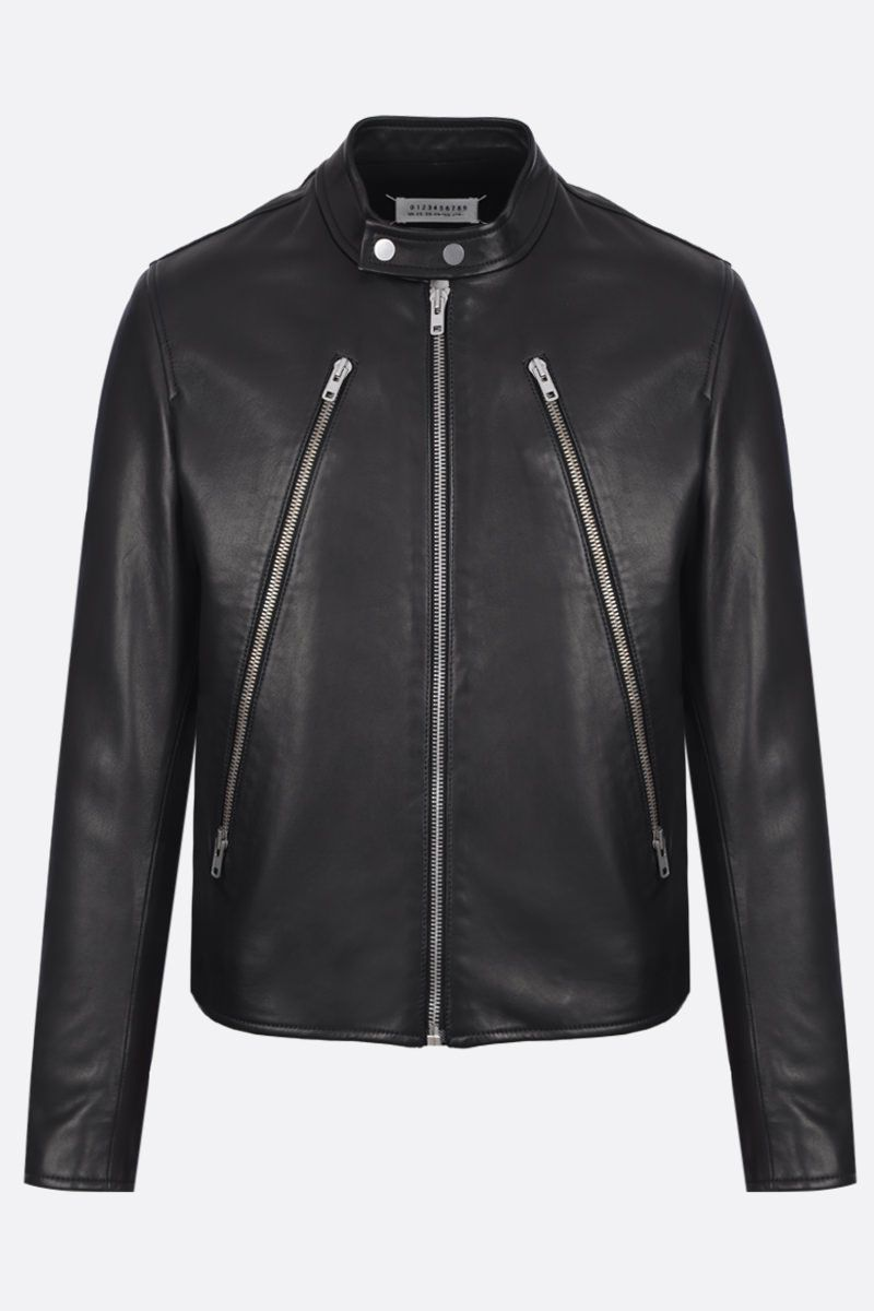MAISON MARGIELA: soft nappa biker jacket Color Black_1