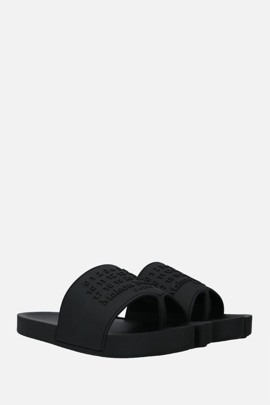 MAISON MARGIELA: Tabi rubber thong sandals Color Black_2