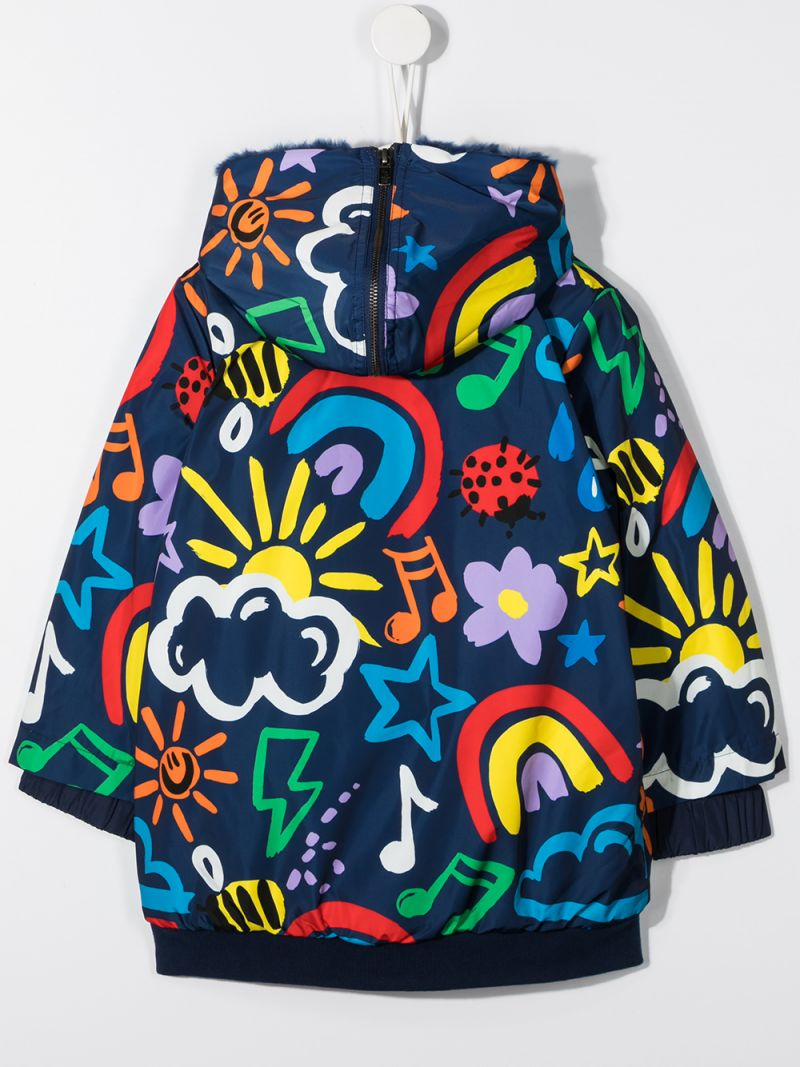 STELLA McCARTNEY KIDS: Weather print nylon hooded jacket_2