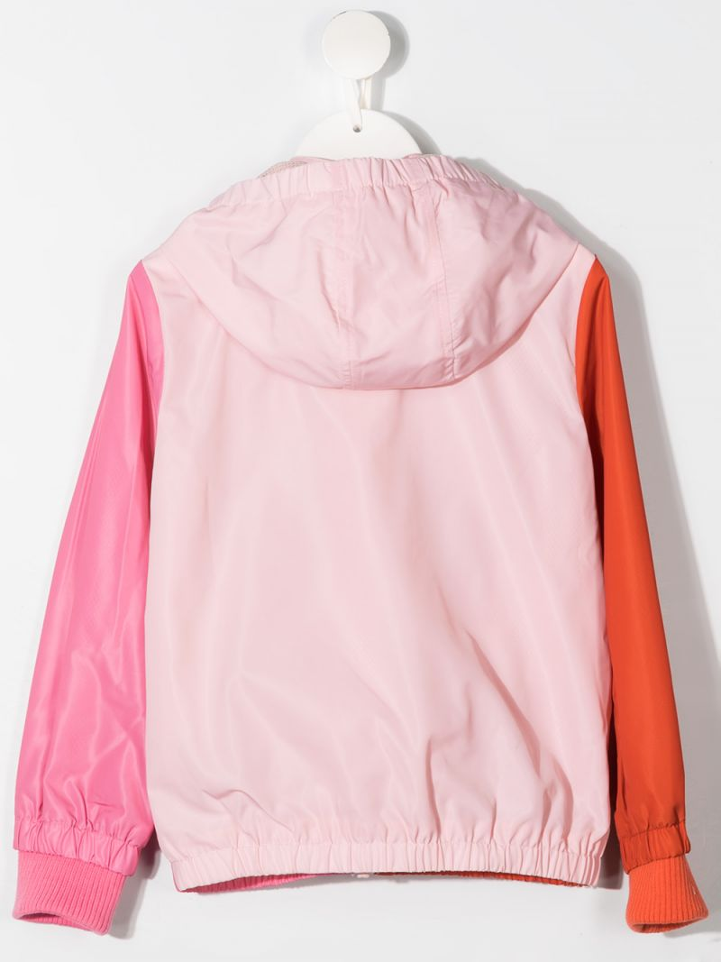 STELLA McCARTNEY KIDS: flamingo print nylon windbreaker Color Multicolor_2