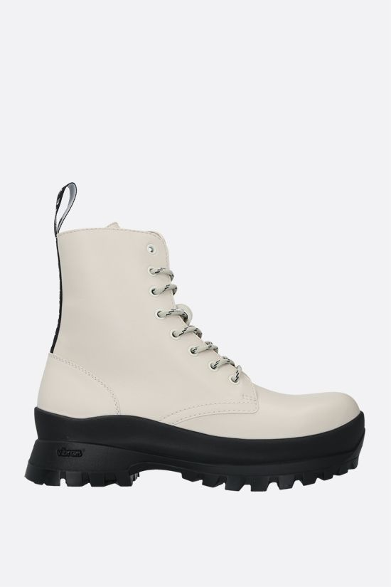 STELLA McCARTNEY: Trace combat boots in shiny Alter Nappa Color White_1