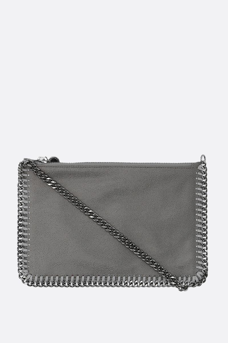 STELLA McCARTNEY: Falabella clutch in Shaggy Deer Color Grey_1