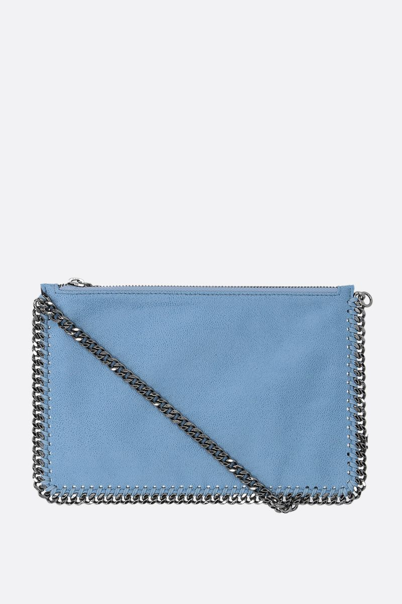 STELLA McCARTNEY: Falabella clutch in Shaggy Deer Color Blue_1
