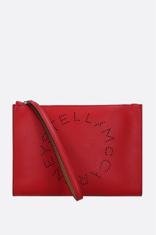 STELLA McCARTNEY: Stella Logo clutch in Alter Nappa Color Red_1