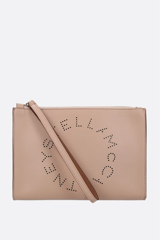 STELLA McCARTNEY: Stella Logo clutch in Alter Nappa Color Pink_1