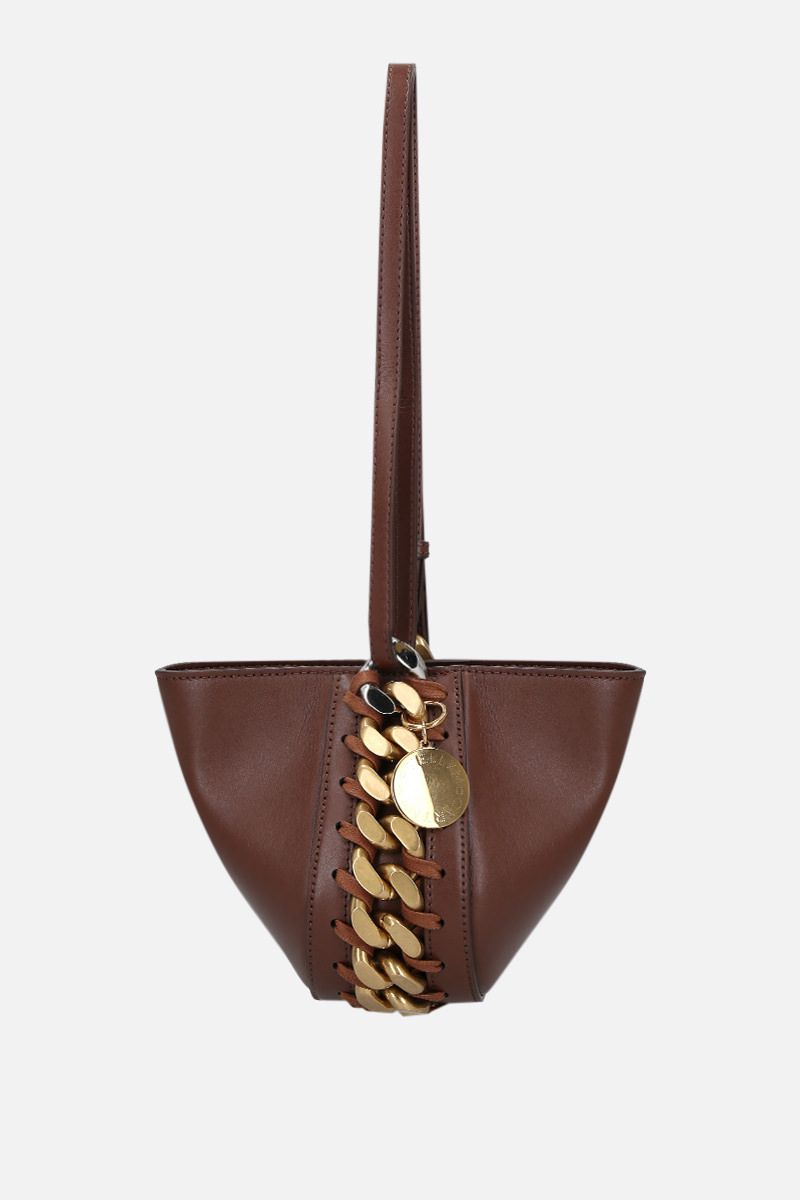 STELLA McCARTNEY: Frayme clutch in Alter Nappa Color Brown_1