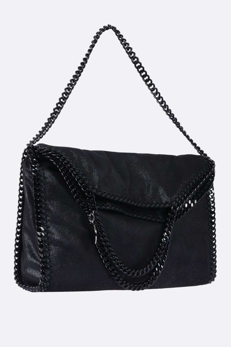 STELLA McCARTNEY: Falabella Fold Over tote in Shaggy Deer Color Black_2
