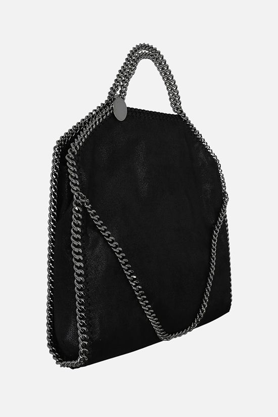 STELLA McCARTNEY: Falabella Fold Over Shaggy Deer tote Color Black_2
