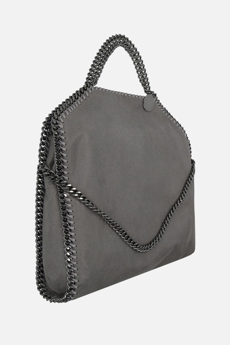 STELLA McCARTNEY: Falabella Fold over Shaggy Deer tote Color Grey_2