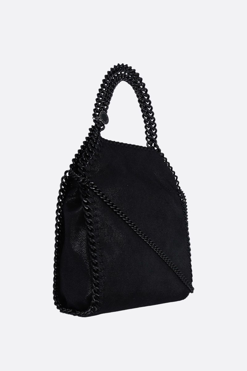 STELLA McCARTNEY: Falabella mini tote in Shaggy Deer Color Black_2
