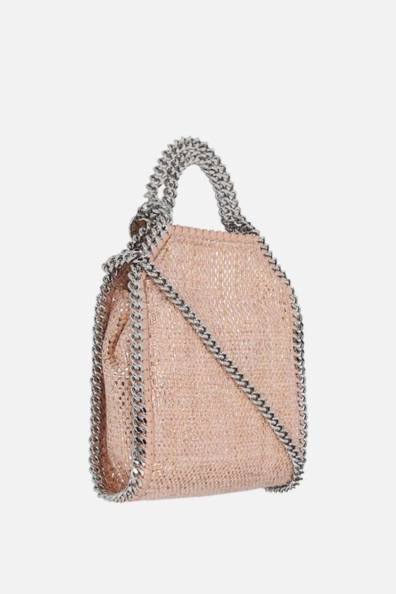 STELLA McCARTNEY: Falabella mini tote in woven fabric Color Pink_2