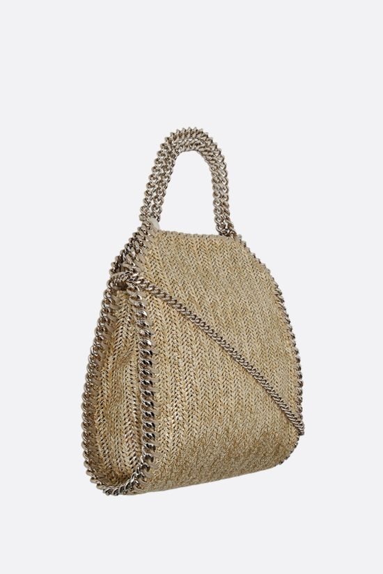 STELLA McCARTNEY: Falabella mini tote in woven fabric Color Gold_2