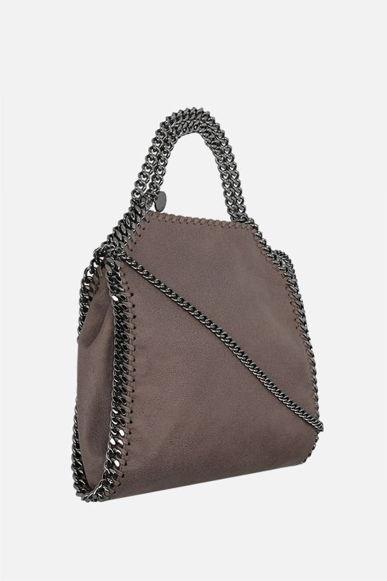 STELLA McCARTNEY: Falabella mini tote in Shaggy Deer Color Grey_2