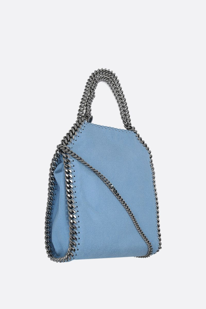 STELLA McCARTNEY: Falabella mini tote in Shaggy Deer Color Blue_2