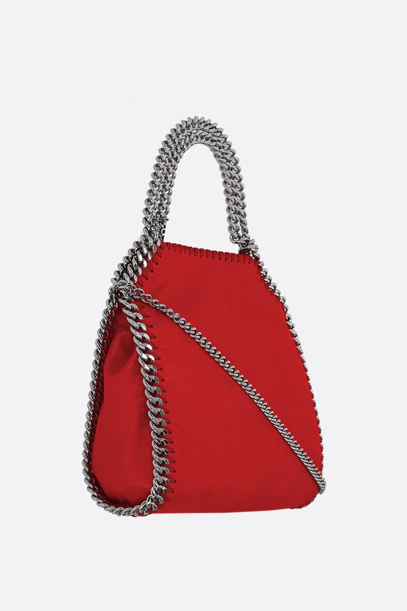 STELLA McCARTNEY: Falabella mini tote in Shaggy Deer Color Red_2