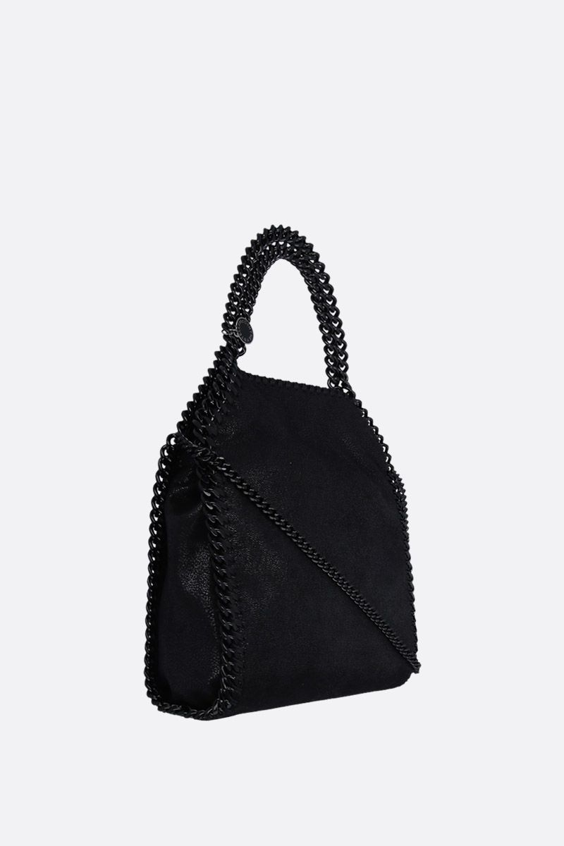 STELLA McCARTNEY: Falabella tiny tote in Shaggy Deer Color Black_2