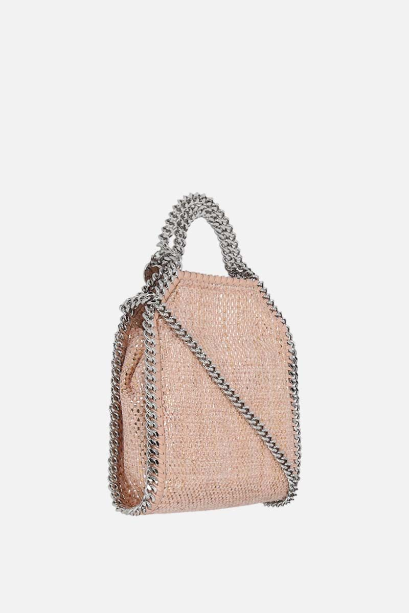 STELLA McCARTNEY: Falabella tiny tote in woven fabric Color Pink_2