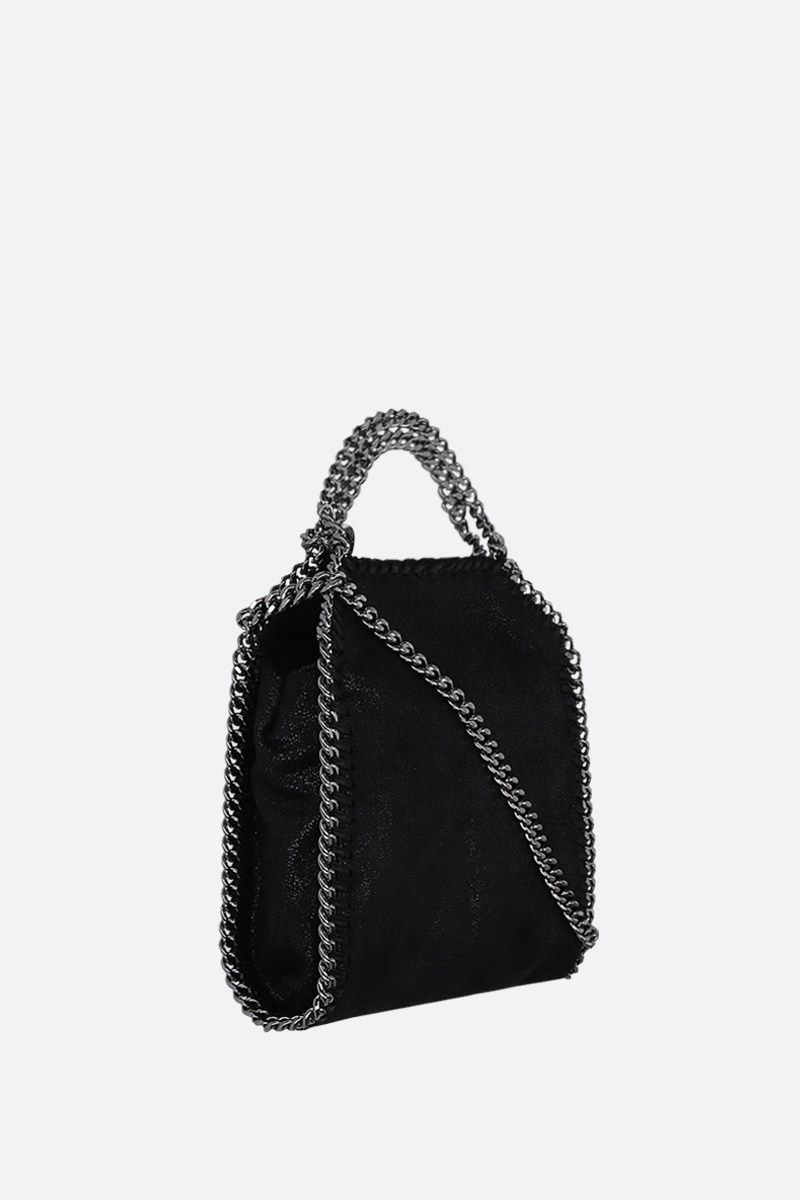 STELLA McCARTNEY: Falabella tiny Shaggy Deer tote Color Black_2