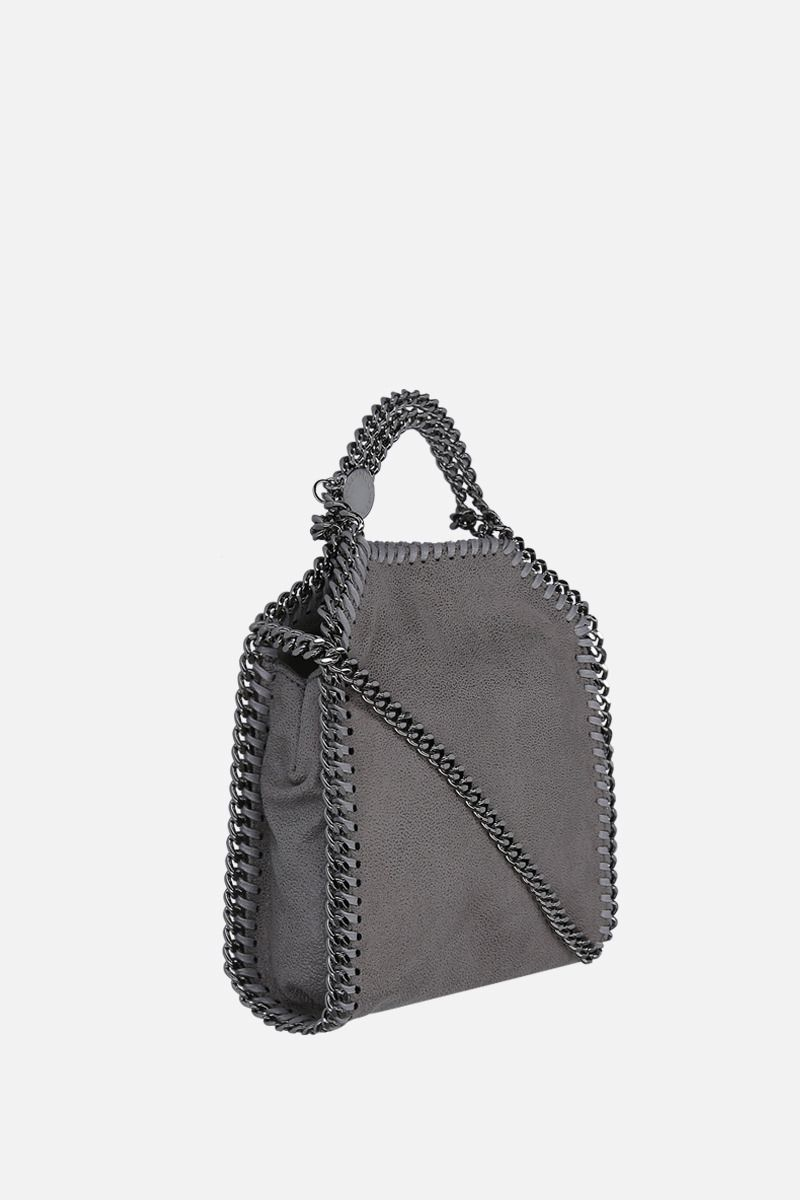 STELLA McCARTNEY: Falabella tiny Shaggy Deer tote Color Grey_2