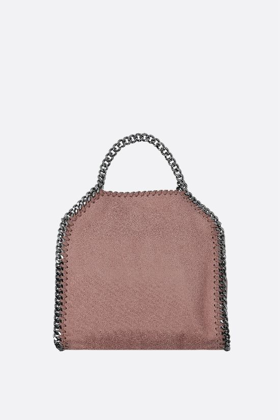 STELLA McCARTNEY: borsa tote Falabella tiny in Shaggy Deer Colore Pink_3