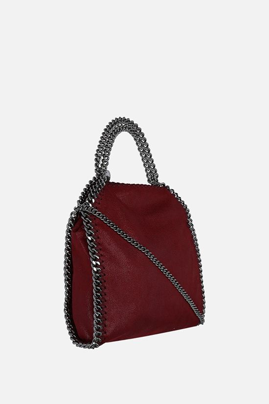 STELLA McCARTNEY: Falabella Tiny tote bag in Shaggy Deer Color Red_2
