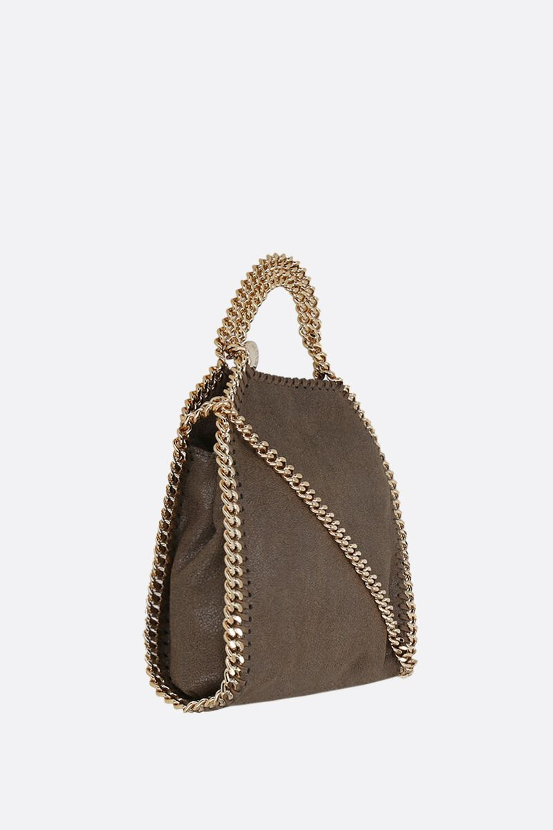 STELLA McCARTNEY: Falabella tiny tote bag in quilted Shaggy Deer Color Green_2
