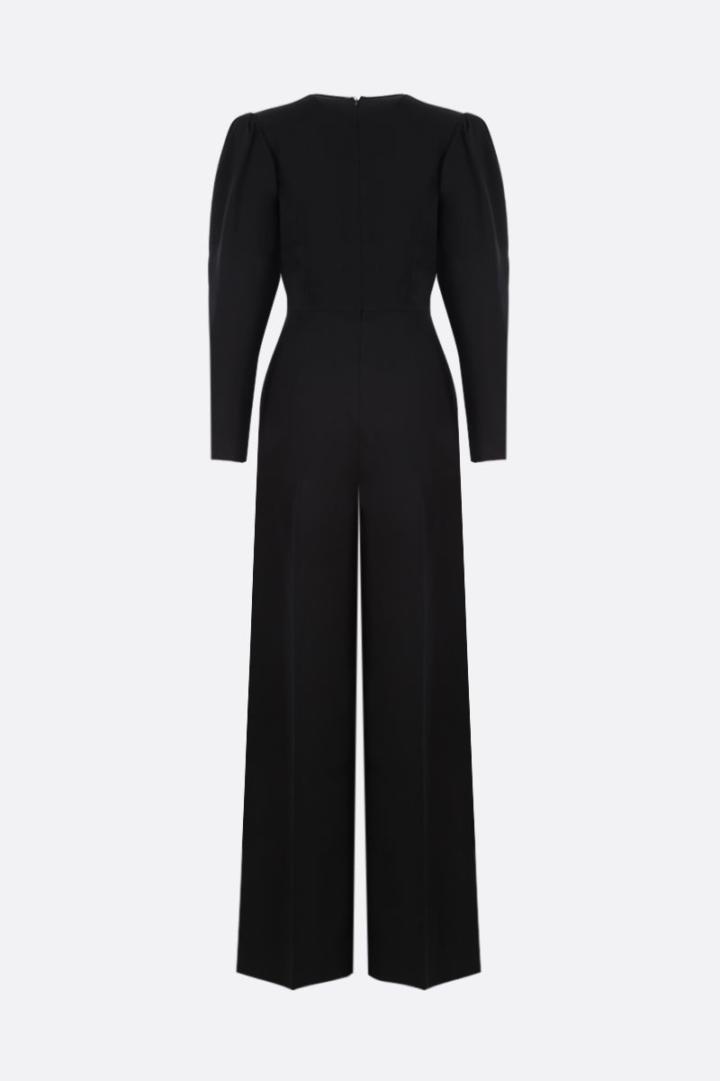 STELLA McCARTNEY: twill jumpsuit with Alter Nappa detail Color Black_2