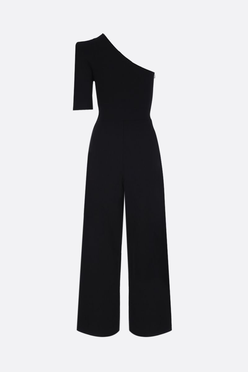 STELLA McCARTNEY: one-shoulder jumpsuit in stretch knit Color Black_2