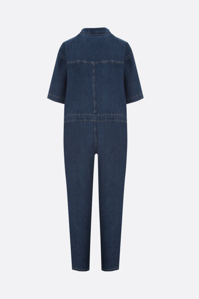 STELLA McCARTNEY: denim cropped jumpsuit Color Blue_2