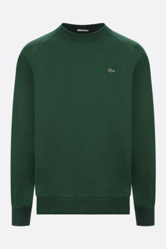 LACOSTE L!VE: metal logo cotton sweatshirt Color Green_1