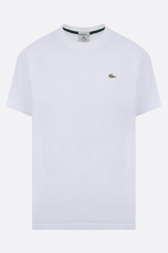 LACOSTE L!VE: metal logo cotton t-shirt Color White_1