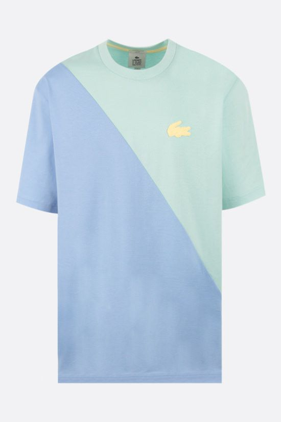 LACOSTE L!VE: bicolour cotton t-shirt Color Blue_1
