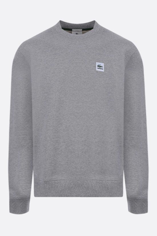 LACOSTE L!VE: logo patch cotton sweatshirt Color Grey_1