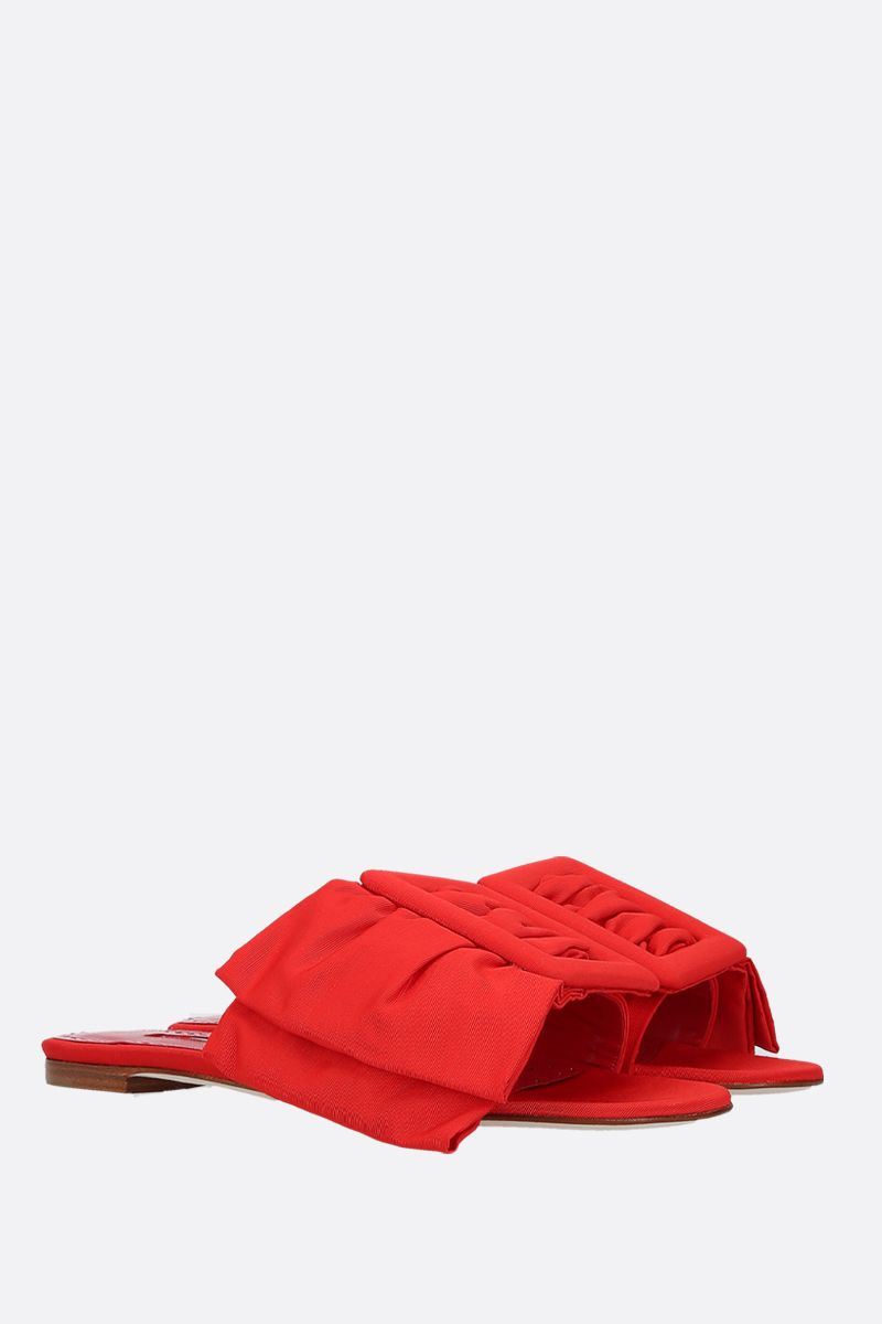 MANOLO BLAHNIK: Flaria grosgrain flat sandals Color Red_2
