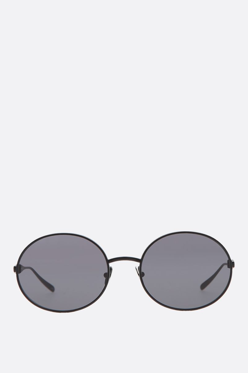 ALAIA: oval-frame metal sunglasses_1