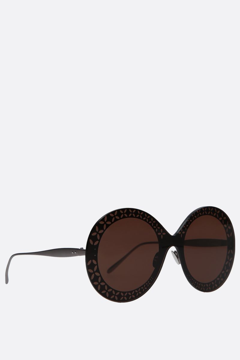 ALAIA: round-frame metal sunglasses Color Brown_2