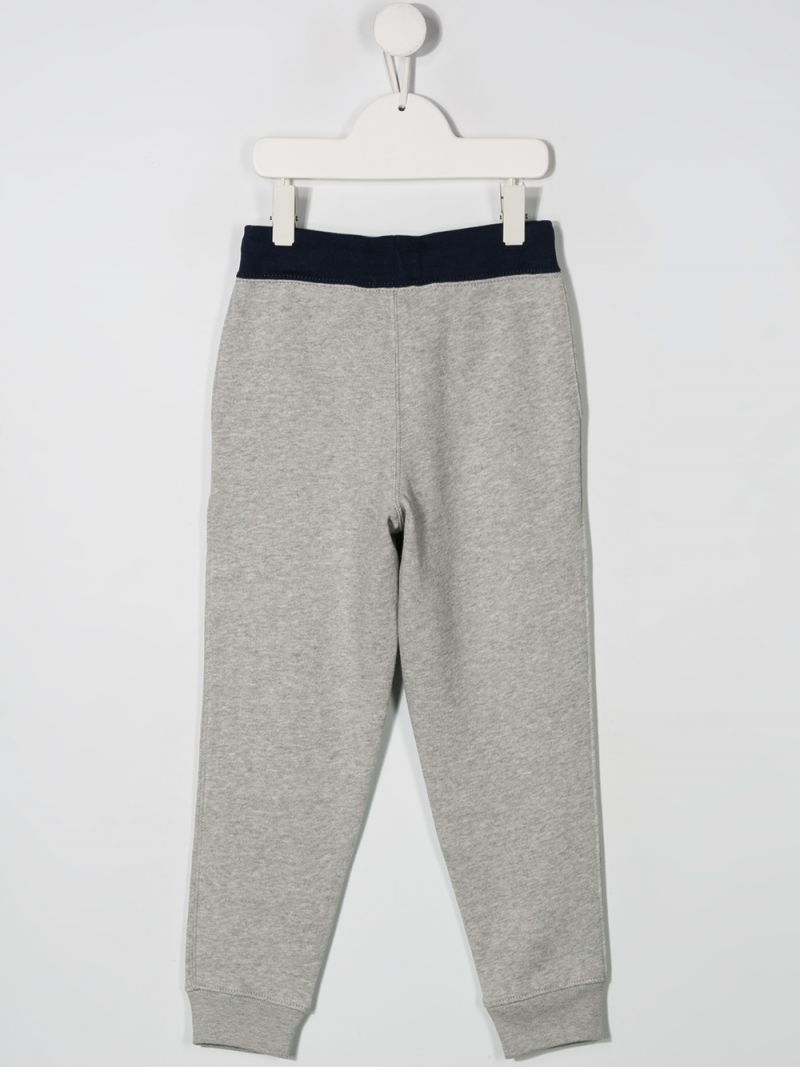 RALPH LAUREN KIDS: Polo print jersey joggers Color Grey_2