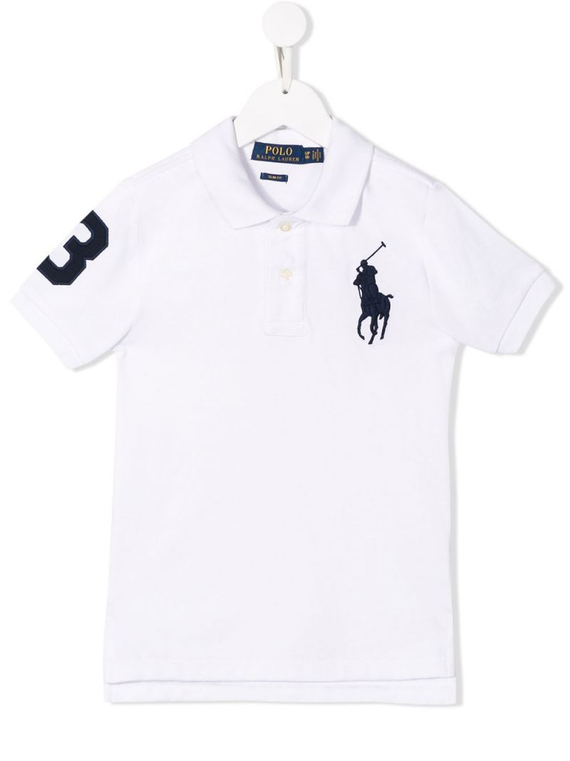 RALPH LAUREN KIDS: cotton piquet polo shirt Color White_1