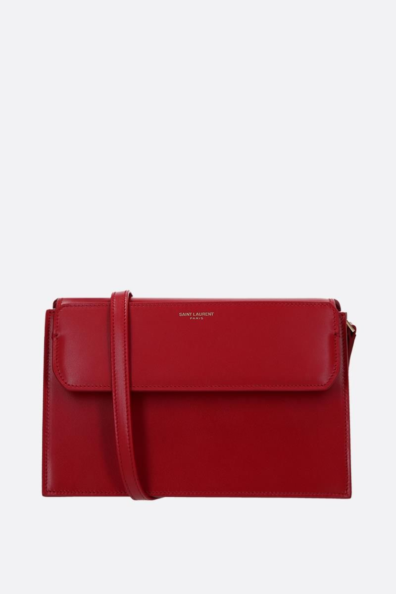 SAINT LAURENT: Catherine leather crossbody bag Color Red_1