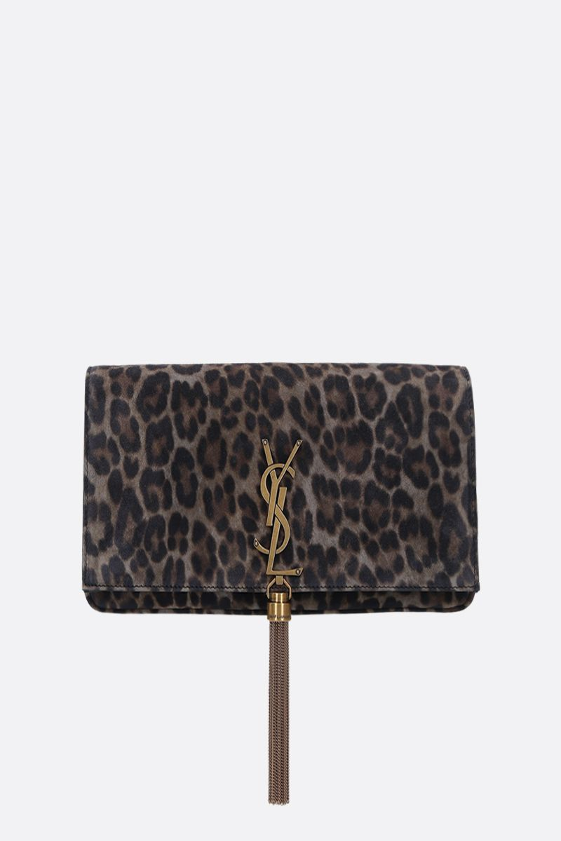SAINT LAURENT: Kate 99 leopard suede shoulder bag_1